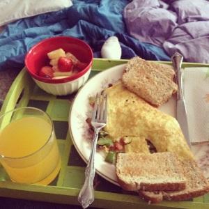 """Breakfast in """"bed""""..."""