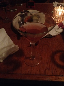 It's a Dirty affair, but someone has to do it! Dirty Martini